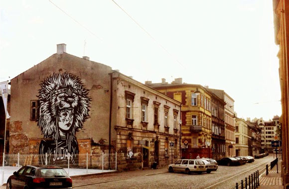 Festival murals in Kazimierz